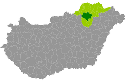 Miskolc District within Hungary and Borsod-Abaúj-Zemplén County.