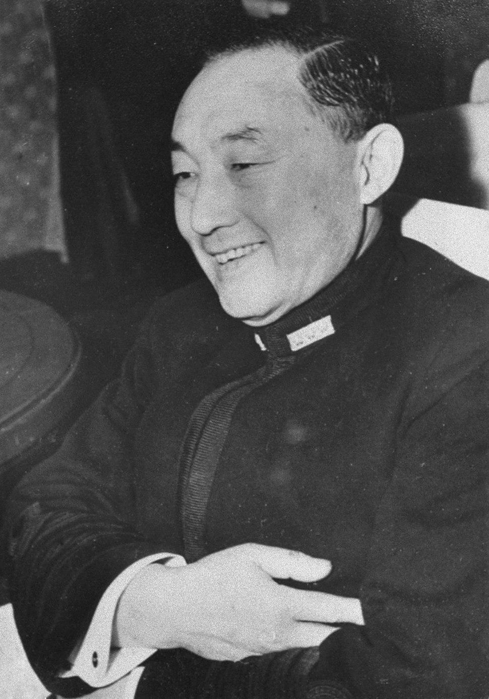 Mitsumasa Yonai smiling