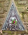 Modern wall plaque at St Anthony's Well, Llanstephan, Carmarthenshire.jpg