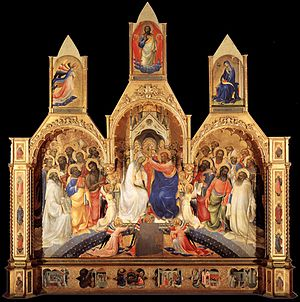 Coronation of the Virgin (Lorenzo Monaco) - Image: Monaco coronation