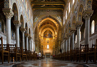 Monreale - Interior of Monreale Cathedral.