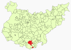 Location in Badajoz