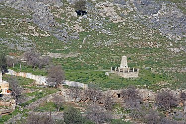 Monument from the acropolis of Lindos 2010 3.jpg
