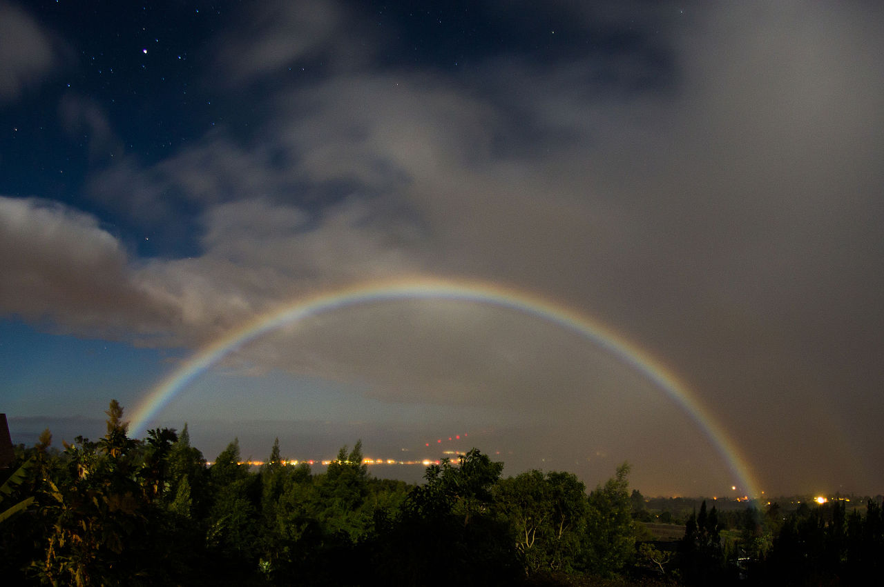 Full Moon Rainbow Ring Around