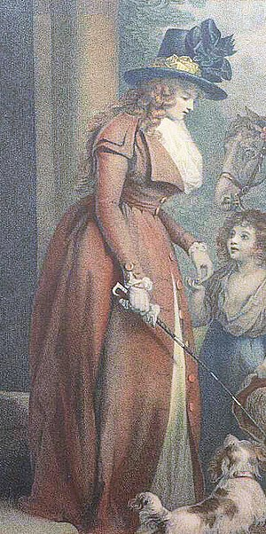 Redingote - Image: Morland squires door detail