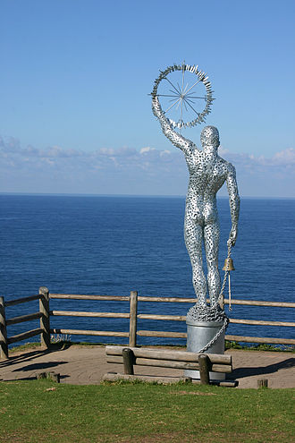 Cape Byron - Statue overlooking Cape Byron