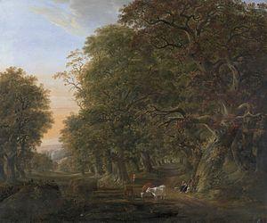 Johann Friedrich Weitsch - Motif of the oak-wood of Querum (1792)