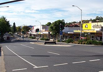 Mount Gravatt, Queensland - Mount Gravatt Central. Logan Road looking south.