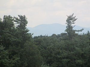 Carl Sandburg Home National Historic Site - View of the Blue Ridge Mountains from Sandburg's front porch