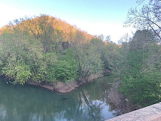 Big Harts Creek river in the United States of America