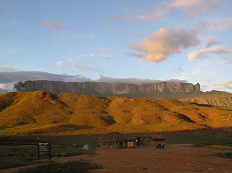 Guiana Shield - Mt Roraima on the Venezuela-Brazil-Guyana border