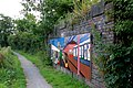 Mural on abutment of dismantled railway bridge, Oxford Canal towpath, Clifton - geograph.org.uk - 1414837.jpg