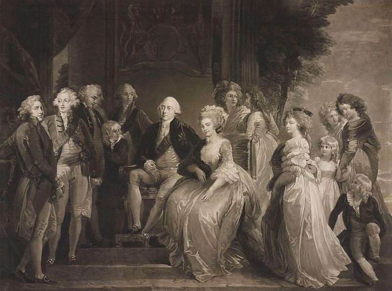 File:Murphy - George III and Queen Charlotte with their thirteen children.jpg