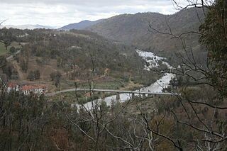 Cotter River river in the Australian Capital Territory