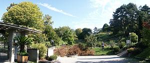 Musée et jardins botaniques cantonaux - The entrance to the Cantonal Botanical Museum and Gardens.
