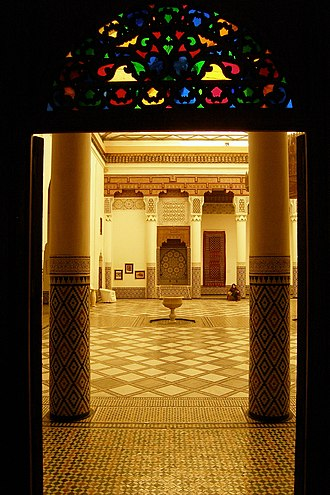 Marrakech Museum - Patio of the Marrakech Museum