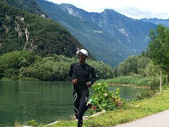 Mustafa Mohamed - Mohamed training in the mountains of St. Moritz, 2014.