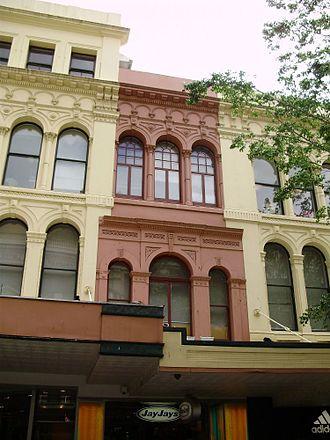 Allan and Stark Building - The various facades of the former Allan and Stark building, 2009