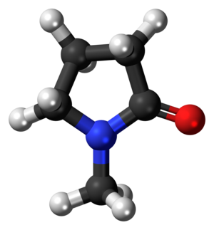N-Methyl-2-pyrrolidone - Image: N Methylpyrrolidone molecule ball