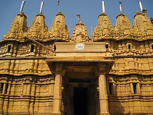Hill Forts of Rajasthan - Image: N RJ 87 Fort including Ancient Temples Jaisalmer Sol Reyes 20100917 332