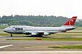 N661US 2 B747-451 Northwest Airlines NRT 21MAY03 (8439823437).jpg