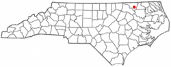 Location of Lasker, North Carolina
