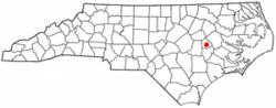 Location of Snow Hill, North Carolina