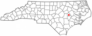 Snow Hill, North Carolina - Image: NC Map doton Snow Hill