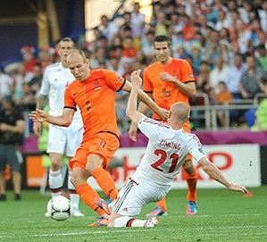 Sport in the Netherlands - Arjen Robben in a UEFA Eurocup match.