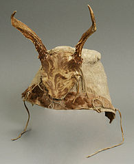 bison hide cap for winter medicinal rituals (19th century) - Native American Medicine and Health