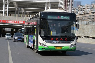Bus line 1 NG-0395 at Baoding Railway Station (20160310114142).jpg