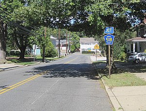 County Route 569 (New Jersey) - CR 569 approaching its northern terminus in Hopewell.
