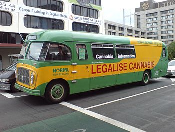 English: 'Mary Jane the Cannabus', the vehicle...