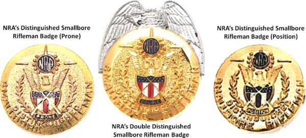 NRA Distinguished Smallbore Rifleman Badges