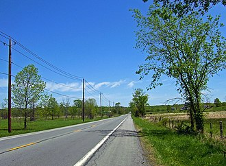 New York State Route 17K - NY 17K in rural countryside east of Bullville