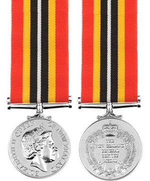New Zealand General Service Medal 2002 (Timor-Leste) - Image: NZGSM 2002 (Timor Leste)