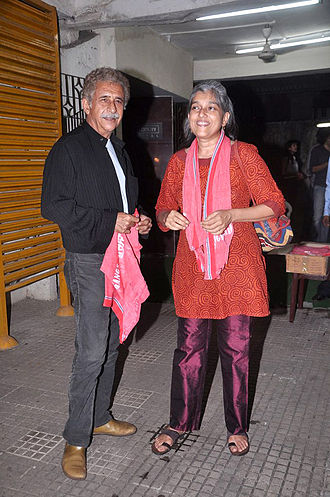 Naseeruddin Shah - Shah with wife Ratna Pathak at Gangs of Wasseypur screening in 2012