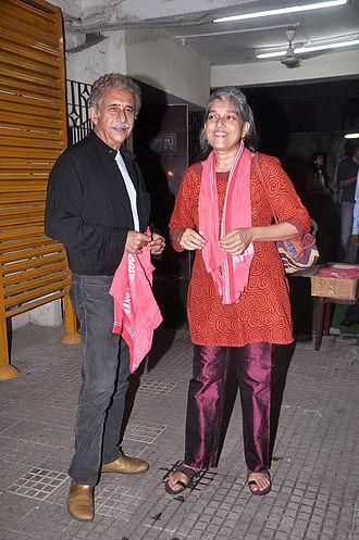 Ratna Pathak - Ratna Pathak with husband Naseeruddin Shah, 2012