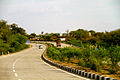 National highways of India NH 27 (old NH 76) Rajasthan Roads March 2015.jpg