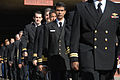 Naval Postgraduate School students walk in formation during a graduation ceremony March 29, 2013, at the school in Monterey, Calif 130329-N-OH194-090.jpg