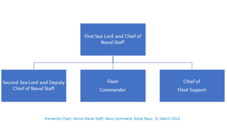 Navy Command (Royal Navy) - Navy Command, Senior Naval Staff, Hierarchy Chart, 31 March 2016