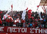 Nea Salamina Famagusta FC fans at Ammochostos Stadium in a game against Alki Larnaca F.C. in season 2011–12.