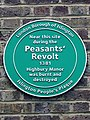 Near this site during the Peasants' Revolt 1381 Highbury Manor was burnt and destroyed.jpg