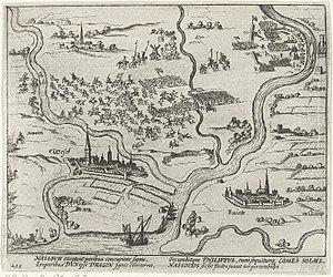 Battle of the Lippe - Image: Nederlaag van het Staatse leger bij Wesel, 1595