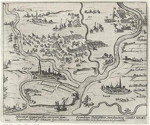 Nederlaag van het Staatse leger bij Wesel, 1595