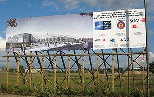 Haren, Belgium - Image: New Nato H Qconstruction Site