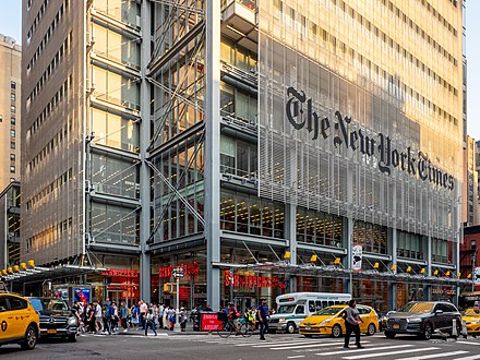 The New York Times headquarters 620 Eighth Avenue New York Times Building - Bottom Portion (48193462432).jpg