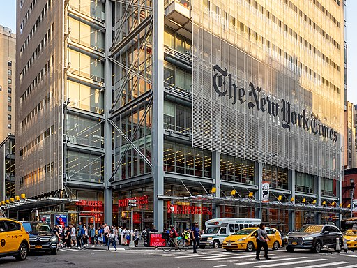The New York Times Building. Photo by Ajay Suresh. Creative Commonse Attribution 2.0 license.