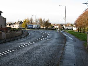 Newarthill - Image: Newarthill Main Road