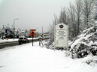 Newcastle, Washington - An unusual snowy day in Newcastle